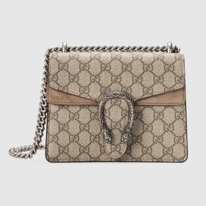 Gucci GG Supreme Mini Dionysus Shoulder Bag