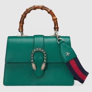 Gucci Green Dionysus Medium Bamboo Top Handle Bag