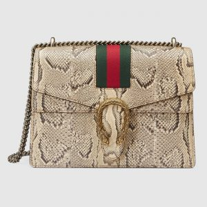 Gucci Natural Python Medium Dionysus Shoulder Bag