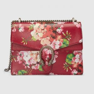 Gucci Red Blooms Print Medium Dionysus Shoulder Bag