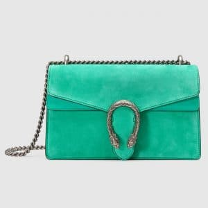 Gucci Water Green Suede Small Dionysus Shoulder Bag