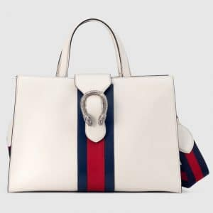 Gucci White Dionysus Large Top Handle Bag