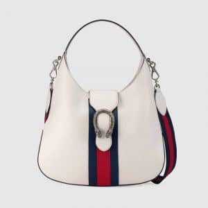 Gucci White Dionysus Medium Hobo Bag
