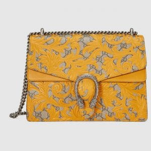 Gucci Yellow Arabesque Medium Dionysus Shoulder Bag