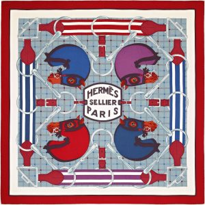 Hermes Tatersale Cashmere and Silk Scarf 140cm
