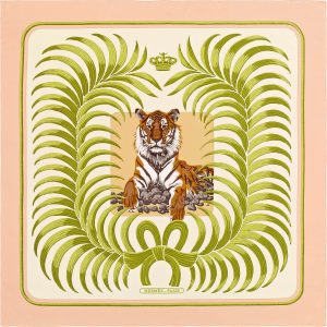 Hermes Tigre Royal Silk Twill Scarf 140cm