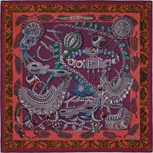 Hermes Zenobie Silk Twill Scarf 90