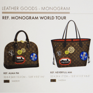 Louis Vuitton Alma and Neverfull Monogram World Tour Bags