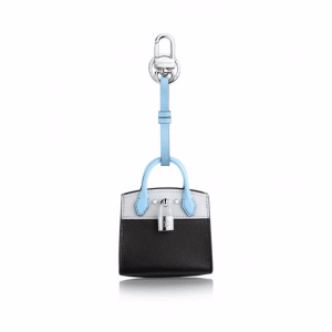 Louis Vuitton Black City Steamer Bag Charm and Key Holder