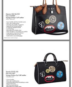 Louis Vuitton Black World Tour Stickers City Steamer and Epi Speedy Bags