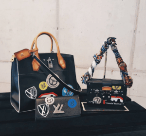 Louis Vuitton Black World Tour Stickers City Steamer and Petite Malle Bags