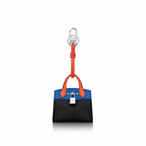 Louis Vuitton Black/Blue City Steamer Bag Charm and Key Holder