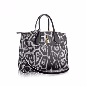 Louis Vuitton Black/Gray Wild Animal Print City Steamer MM Bag