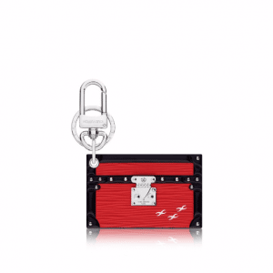 Louis Vuitton Coquelicot Petite Malle Bag Charm and Key Holder