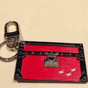 Louis Vuitton Coquelicot Petite Malle Bag Charm and Key Holder 2