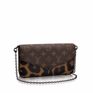 Louis Vuitton Monogram Canvas:Wild Animal Print Pochette Felicie Bag