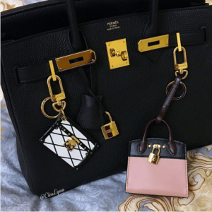 Louis Vuitton Petite Malle and City Steamer Bag Charm and Key Holder