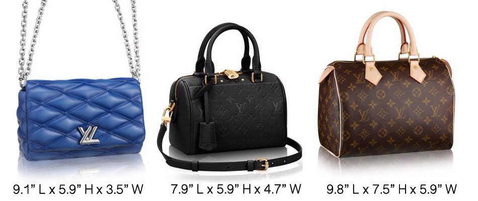 Check out the comparison between the Monogram Empreinte Speedy 20, Go ...