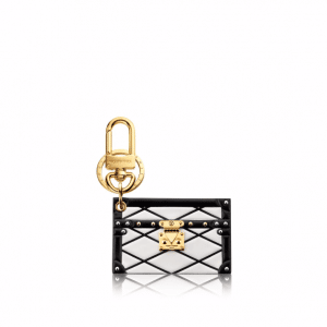 Louis Vuitton White Malletage Petite Malle Bag Charm and Key Holder
