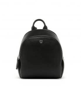 MCM Black Duchess Polke Studs Backpack Bag