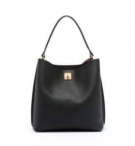 MCM Black Large Milla Hobo Bag