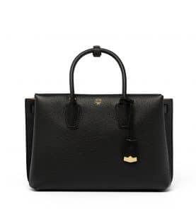 MCM Black Large Milla Tote Bag