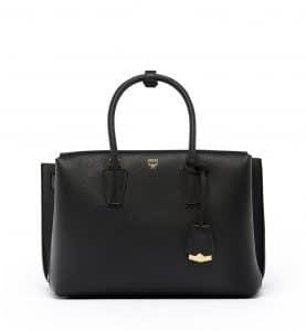 MCM Black Medium Milla Tote Bag
