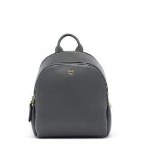 MCM Mono Grey Duchess Polke Studs Backpack Bag