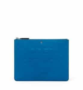 MCM Munich Blue Repro Pouch Bag