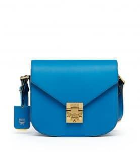 MCM Munich Blue Small Patricia Crossbody Bag