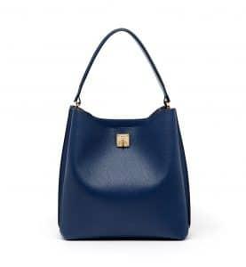 MCM Navy Blue Large Milla Hobo Bag