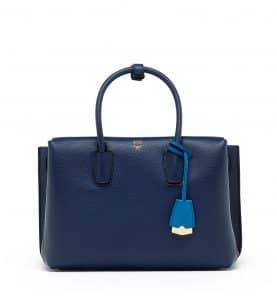 MCM Navy Blue Medium Milla Tote Bag