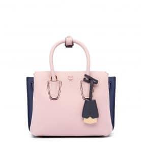 MCM Pale Mauve Mini Milla Tote Bag