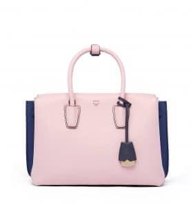 MCM Pale Mauve/Blue Medium Milla Tote Bag