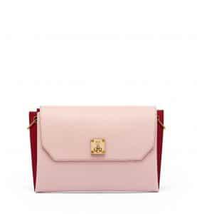 MCM Pale Mauve/Red Milla Clutch Bag
