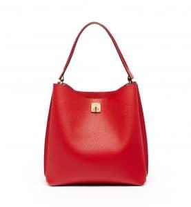 MCM Ruby Red Large Milla Hobo Bag