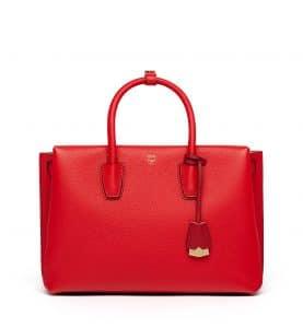 MCM Ruby Red Large Milla Tote Bag