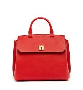 MCM Ruby Red Milla Backpack Bag