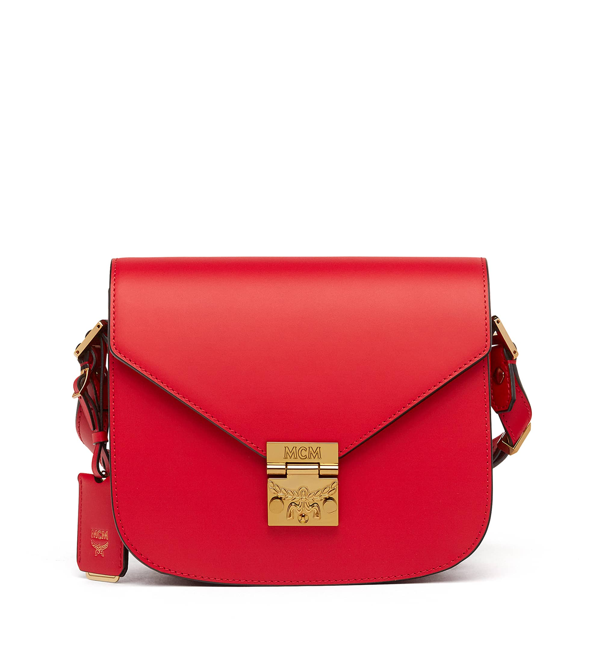 Mcm Ruby Red Small Patricia Crossbody Bag
