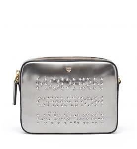 MCM Silver Studded Repro Crossbody Bag