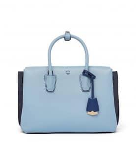 MCM Sky Blue Medium Milla Tote Bag