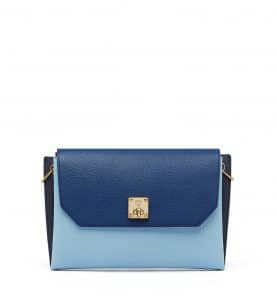 MCM Sky Blue Milla Clutch Bag