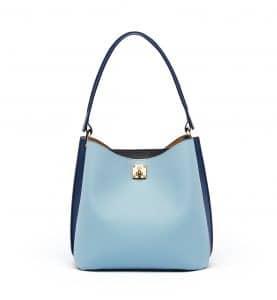 MCM Sky Blue Milla Hobo Bag