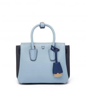 MCM Sky Blue Mini Milla Tote Bag
