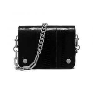 Mulberry Black Ostrich Clifton Bag