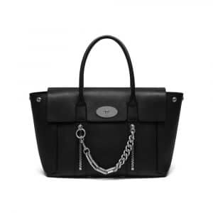 Mulberry Black Smooth Calf With Zips New Bayswater Bag