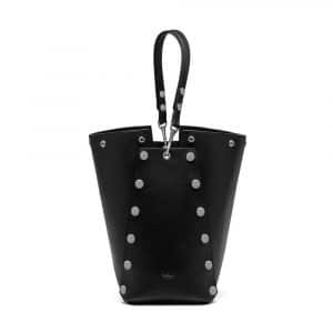Mulberry Black Smooth Calf with Studs Camden Bag