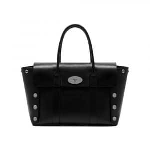 Mulberry Black Smooth Calf with Studs New Bayswater Bag