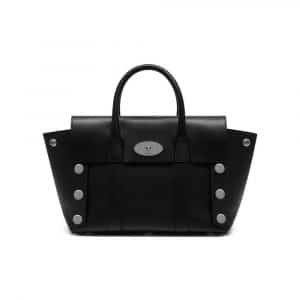 Mulberry Black Smooth Calf with Studs Small New Bayswater Bag