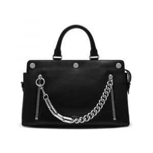 Mulberry Black Smooth Calf with Zips Chester Bag